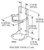 Ansul Vehicle Bracket for 2.5 Gallon Water Fire Extinguisher