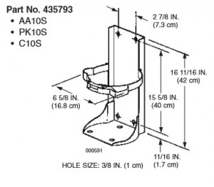 Ansul Vehicle Bracket for 10 lb. Purple K Fire Extinguisher