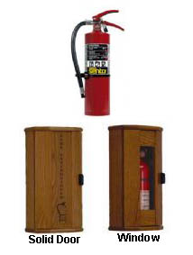 ansul fire aa05 and wooden fire cabinet package